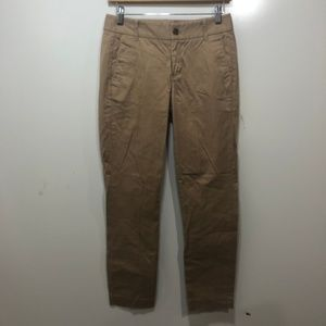 J CREW 0 Pants Solid Camel Beige Frankie Style
